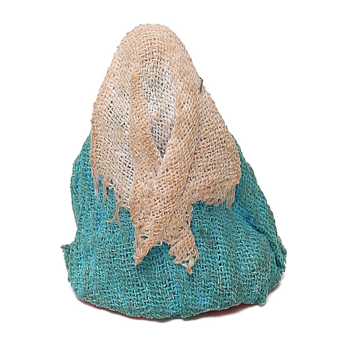 STOCK Madonna vestita in terracotta di 4 cm Presepe Napoletano 4
