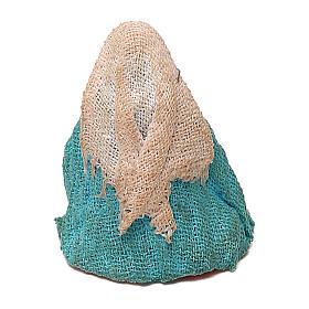 STOCK Madonna vestita in terracotta di 4 cm Presepe Napoletano s2