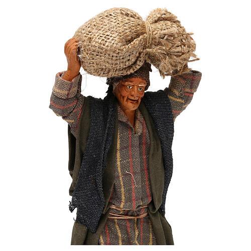 STOCK Uomo con sacchi vestito in terracotta 18 cm presepe napoletano 2