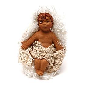 STOCK Baby Jesus in the manger, Neapolitan Nativity scene 7 cm s1