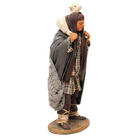 STOCK Pastore con pecora vestito in terracotta cm 18 presepe napoletano s4