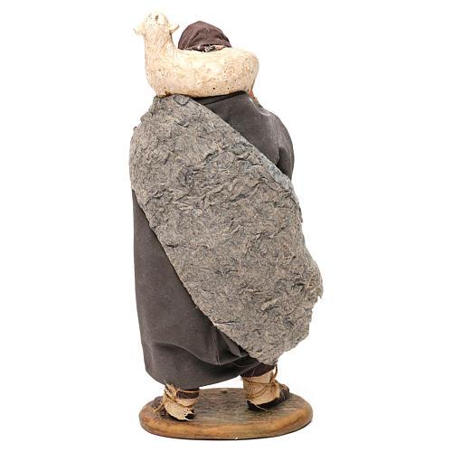 STOCK Pastore con pecora vestito in terracotta cm 18 presepe napoletano 5