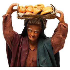 STOCK Woman carrying basket dressed in terracotta, 30 cm Neapolitan nativity s2