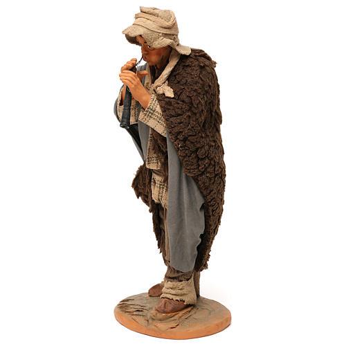 STOCK Flautista vestido terracota cm 30 Belén Napolitano 3