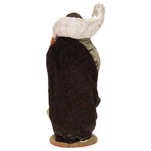 STOCK Donna con pecora vestita terracotta 30 cm Presepe Napoletano 5