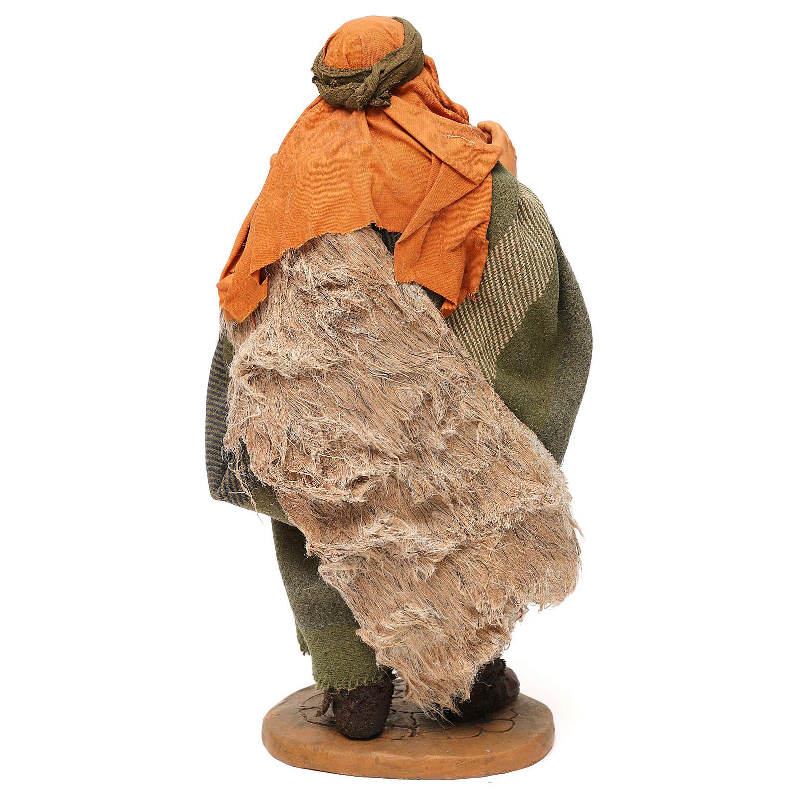 STOCK Pastore con brocca vestito terracotta 30 cm Presepe Napoletano 4