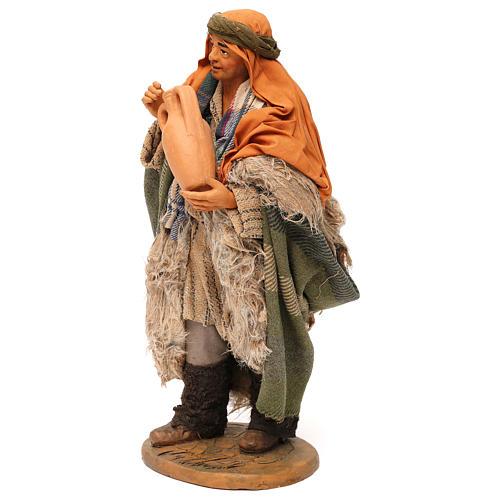 STOCK Pastore con brocca vestito terracotta 30 cm Presepe Napoletano 3