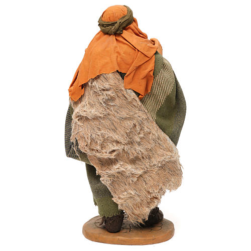 STOCK Pastore con brocca vestito terracotta 30 cm Presepe Napoletano 5