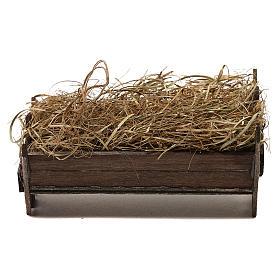 STOCK Manger for Baby Jesus, Neapolitan Nativity scene 20 cm s1