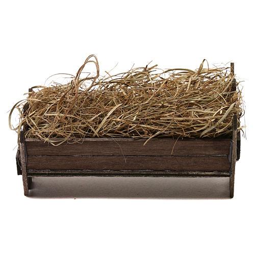 STOCK Manger for Baby Jesus, Neapolitan Nativity scene 20 cm 1