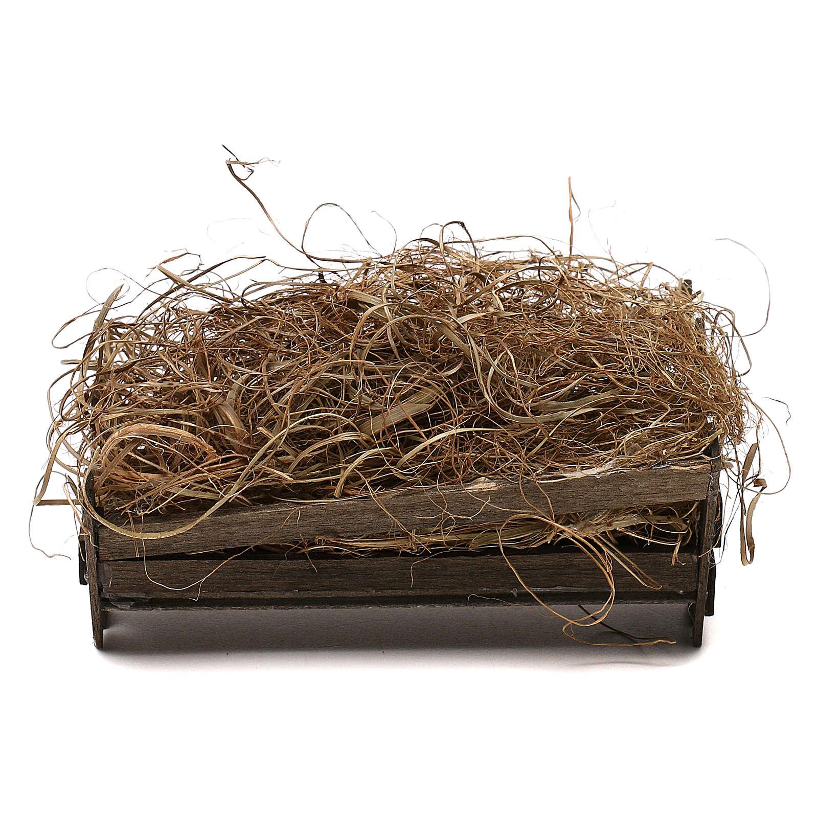 STOCK Culla per Gesù Bambino 30 cm legno e terracotta presepe napoletano 4