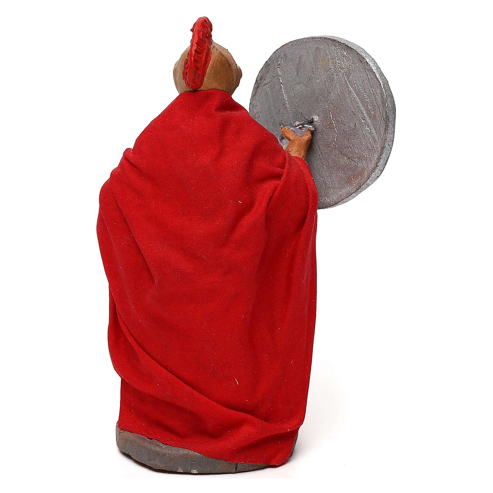 STOCK Soldato Romano con spada in terracotta di 10 cm presepe napoletano 4