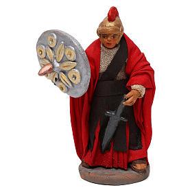 STOCK Soldato Romano con spada in terracotta di 10 cm presepe napoletano s1