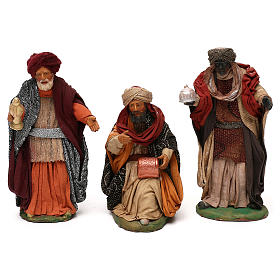 STOCK Serie Re Magi vestiti in terracotta cm 18 presepe napoletano s1