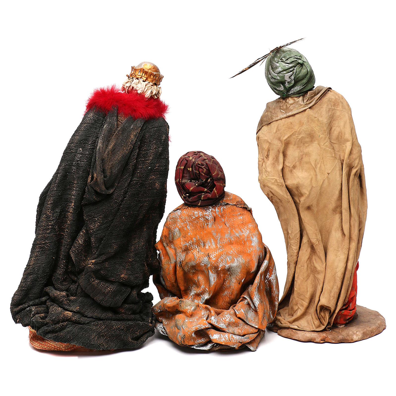 STOCK Serie Reyes Magos vestidos extra de terracota cm 35 belén napolitano 4