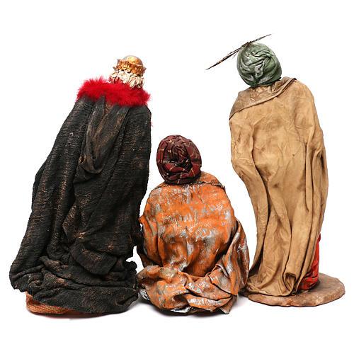 STOCK Serie Reyes Magos vestidos extra de terracota cm 35 belén napolitano 8