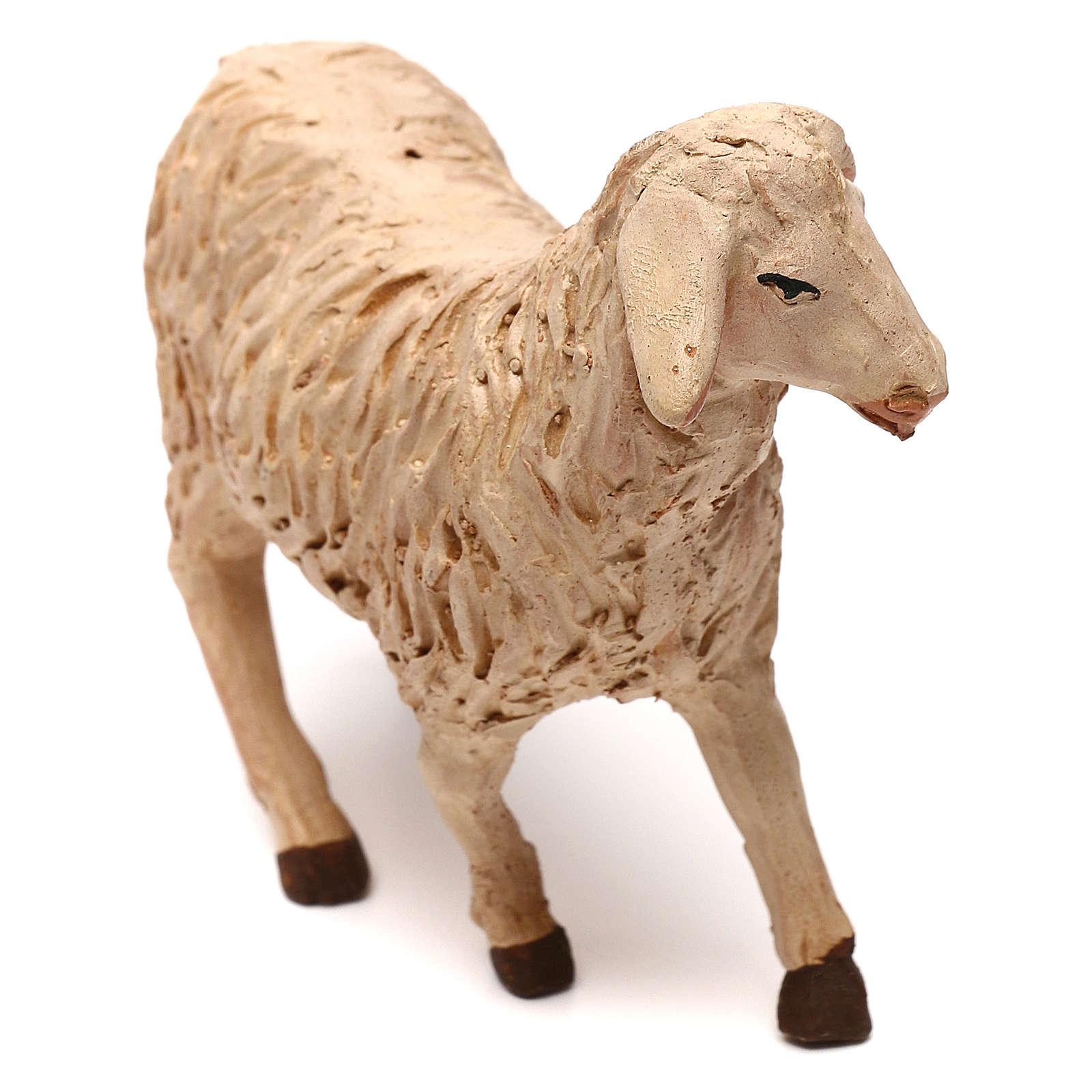 STOCK Mouton tête à gauche crèche napolitaine 14 cm 4