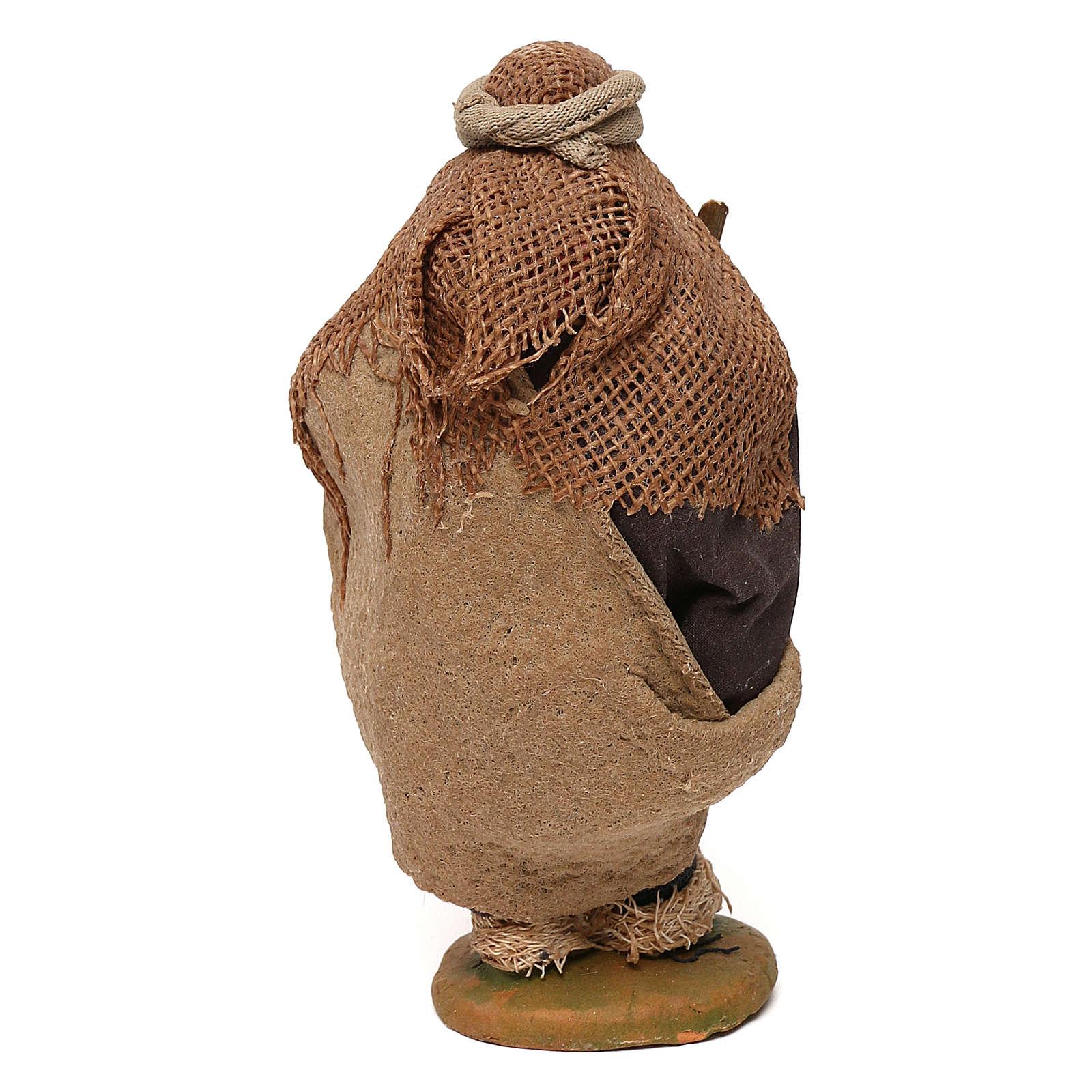 STOCK Mendicante con bastone presepe napoletano 10 cm 4