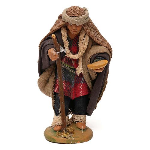 STOCK Mendicante con bastone presepe napoletano 10 cm 1