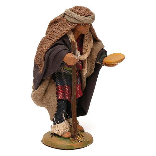 STOCK Mendicante con bastone presepe napoletano 10 cm 3