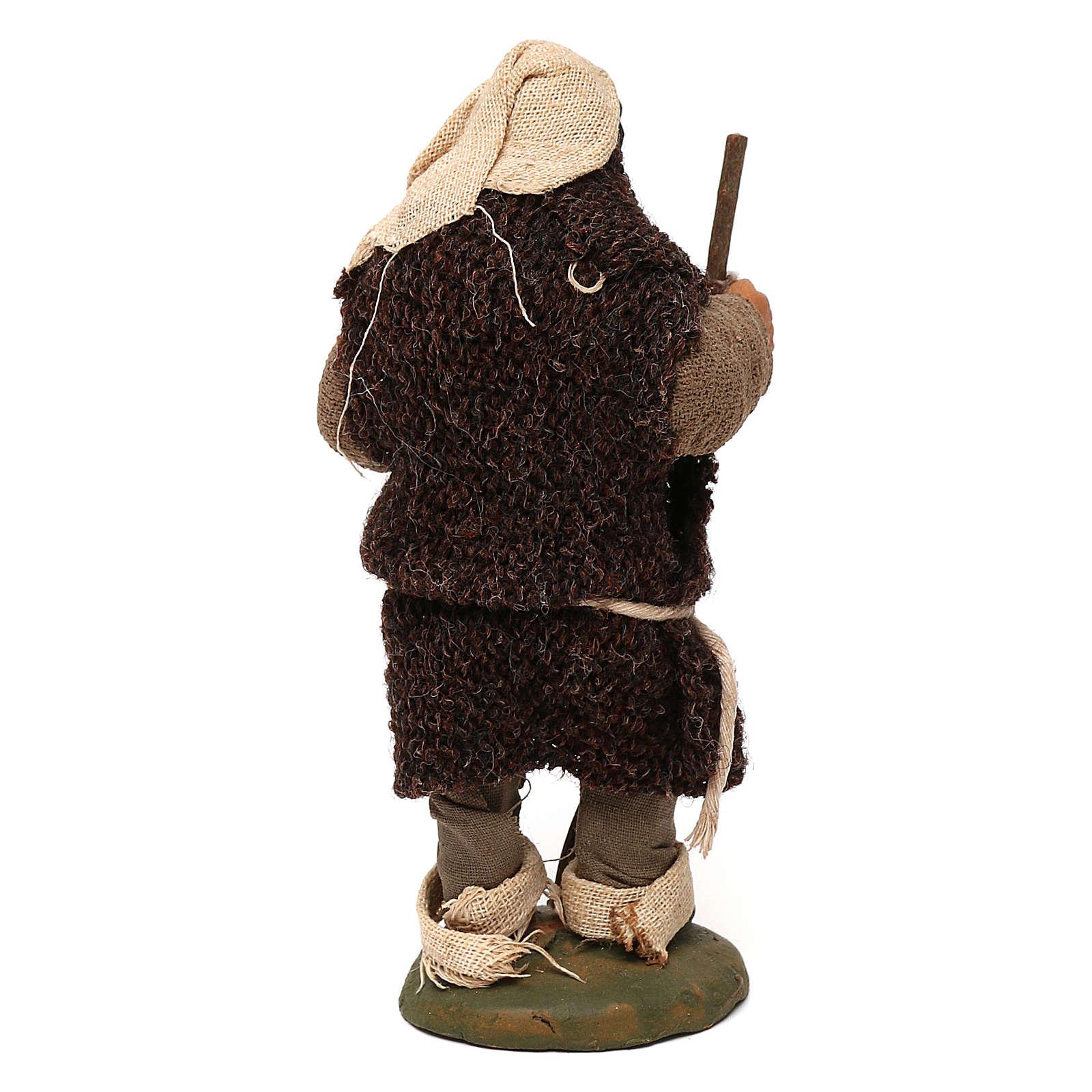 STOCK Mendicante cappotto lana presepe napoletano 10 cm 4