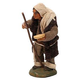 STOCK Mendicante cappotto lana presepe napoletano 10 cm s2