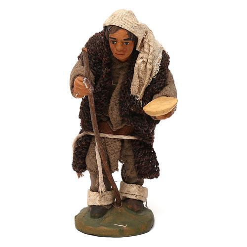STOCK Mendicante cappotto lana presepe napoletano 10 cm 1