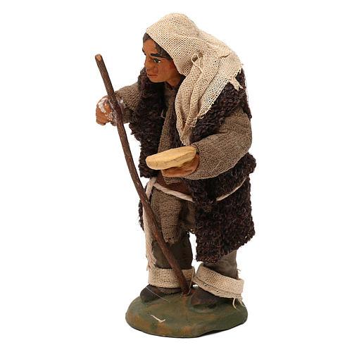 STOCK Mendicante cappotto lana presepe napoletano 10 cm 2