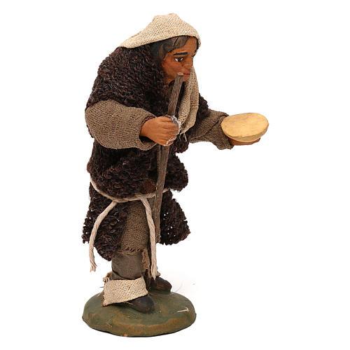 STOCK Mendicante cappotto lana presepe napoletano 10 cm 3