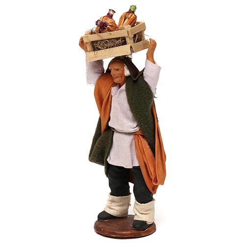 STOCK Merchant with bottles, Neapolitan Nativity scene 12 cm 2