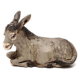 STOCK Asino steso terracotta presepe napoletano 10 cm s1