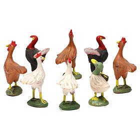STOCK Animales de corral 8 piezas terracota belén napolitano 12 cm s2