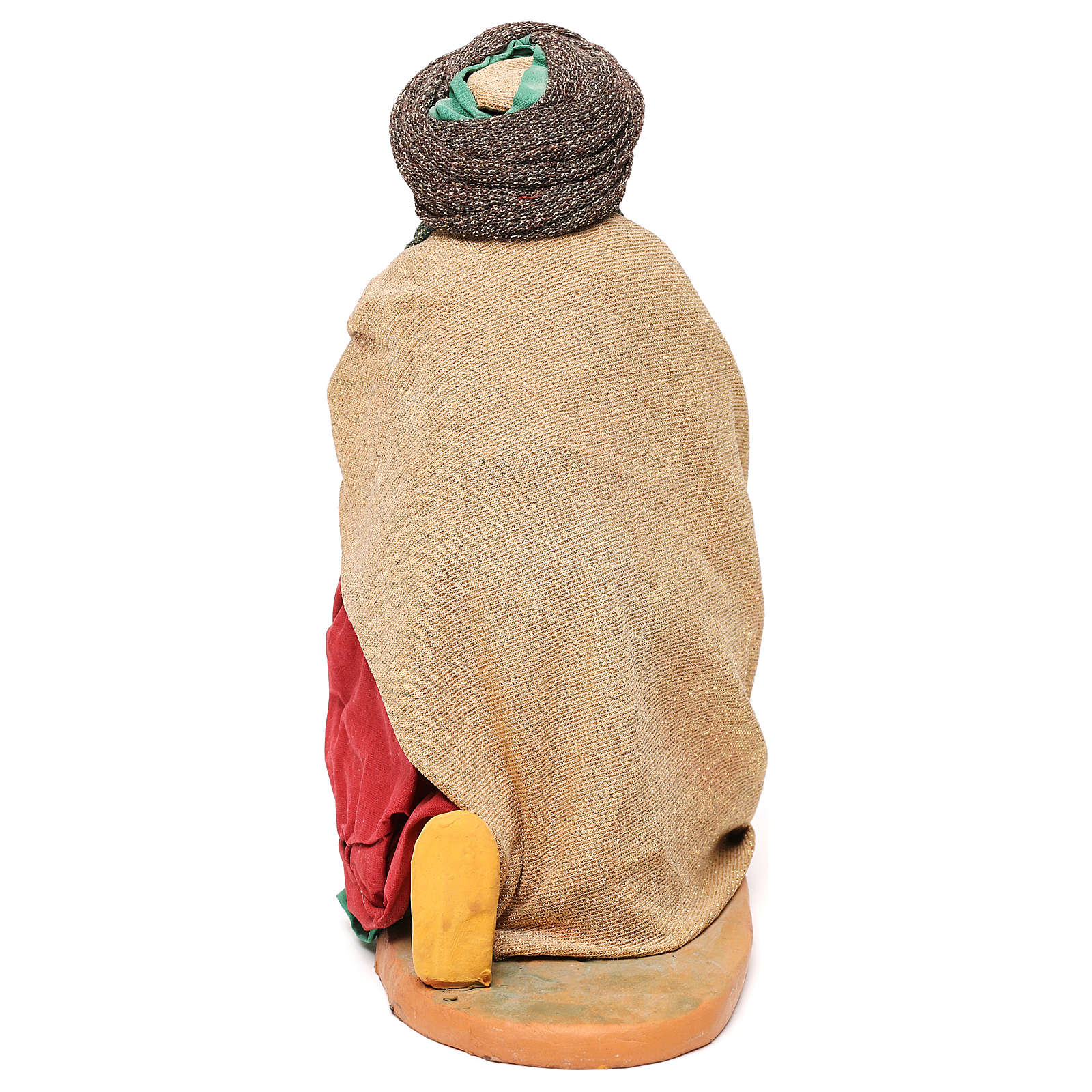 STOCK Re magio in ginocchio presepe napoletano 30 cm 4
