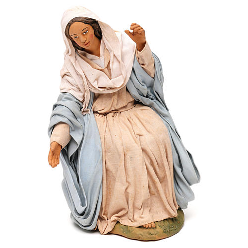STOCK Madonna terracotta presepe napoletano 30 cm 1