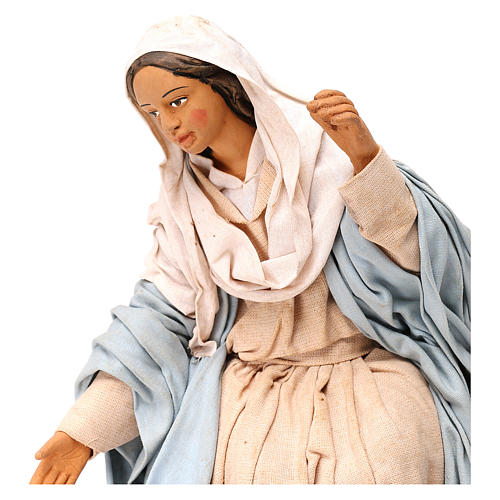 STOCK Madonna terracotta presepe napoletano 30 cm 2