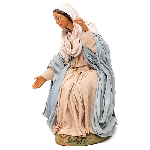 STOCK Madonna terracotta presepe napoletano 30 cm 3