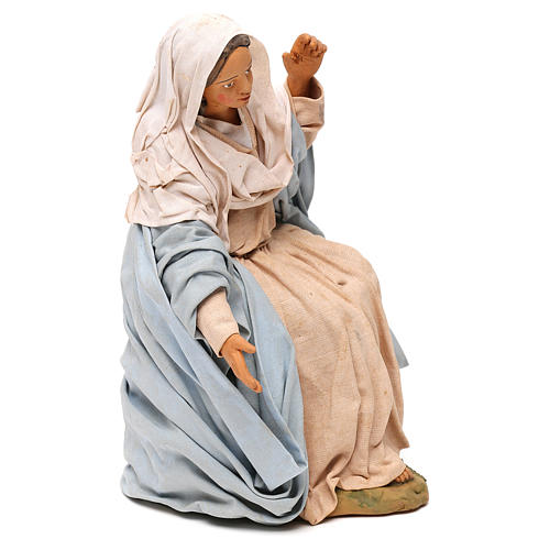 STOCK Madonna terracotta presepe napoletano 30 cm 4