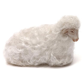 STOCK Sheep with white wool, Neapolitan Nativity scene 14 cm s1