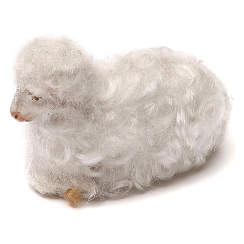 STOCK Sheep with white wool, Neapolitan Nativity scene 14 cm 2