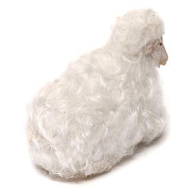 STOCK Oveja lana blanca belén napolitano 14 cm s3