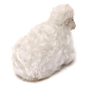 STOCK Pecora lana bianca presepe napoletano 14 cm s3
