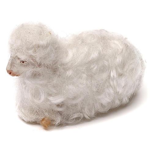 STOCK Pecora lana bianca presepe napoletano 14 cm 2