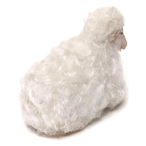 STOCK Pecora lana bianca presepe napoletano 14 cm 3