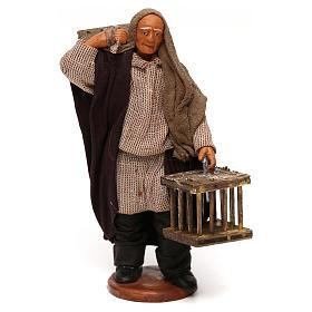 Uomo 2 gabbie legno presepe napoletano 12 cm s1