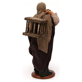Uomo 2 gabbie legno presepe napoletano 12 cm s4