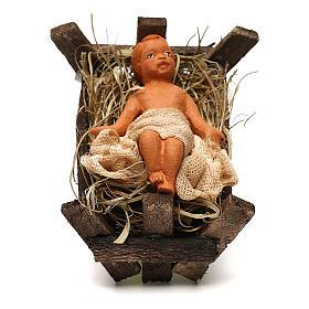 Baby Jesus in the manger, Neapolitan Nativity scene 10 cm s1