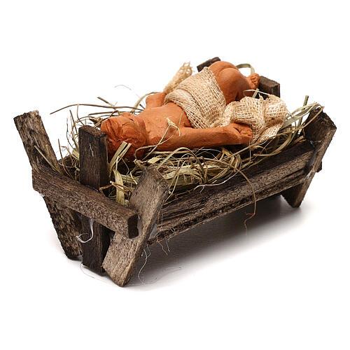 Baby Jesus in the manger, Neapolitan Nativity scene 10 cm 3