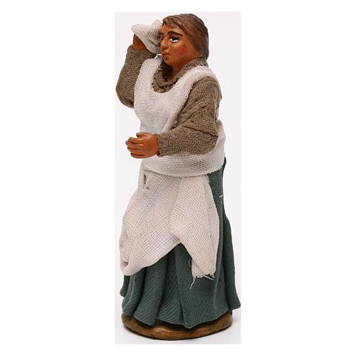 Donna mano in fronte presepe napoletano 10 cm 2