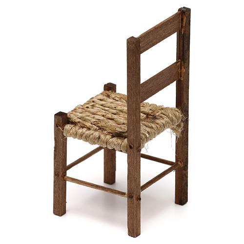 Sedia in legno presepe napoletano 15 cm 2