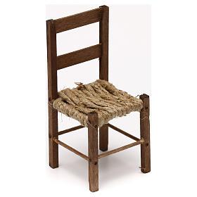 Presépio Napolitano: Cadeira em madeira para presépio napolitano com figuras de 15 cm altura média